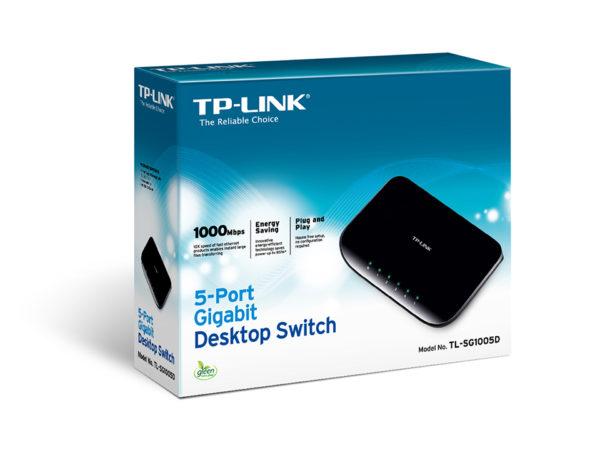TP-LINK Switch 5-porte Gigabit TL-SG1005D