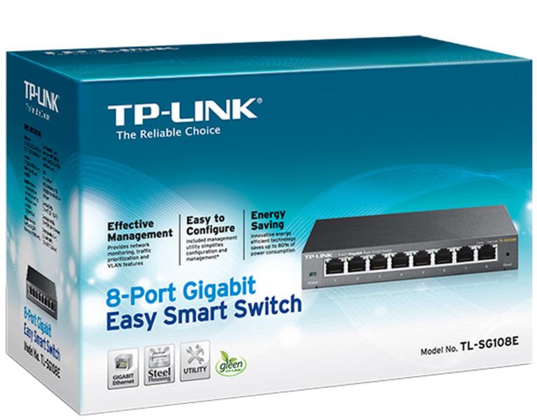 TP-LINK Switch TL-SG108E 8 Porte 10 100 1000Mbps – IntelliCOM Point ... a66b4d4ebcdf